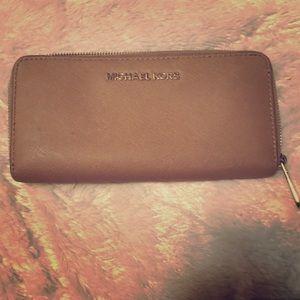 Brown micheal kors wallet